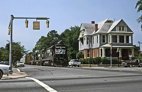 Street running in Augusta, GA